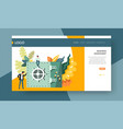 online banking business investment web page vector image