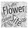 Online Flower Shops Compete For Web Traffic With vector image vector image