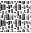 pattern with sewing thread bobbins vector image