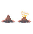 process volcano eruption isolated vector image vector image
