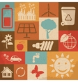 Retro ecology icon set vector image vector image