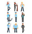sailors and captains doing their job seamen vector image