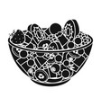 salad from various kinds of fruit fruit single vector image vector image