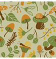 seamless pattern with mushroom vector image vector image