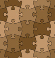 seamless puzzle - easy change color vector image vector image