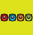 set different speakers color vector image