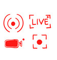 set hand drawn live streaming icons vector image vector image