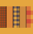 set of 5 options tartan seamless pattern vector image vector image