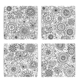 Set of floral cardsBusiness artworks with vector image