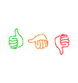 set of thumbs down stamps vector image vector image