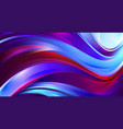 shining wavy background with red and blue waves vector image vector image