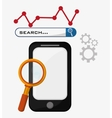smartphone search gear strategy vector image