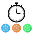 stopwatch colored icons vector image