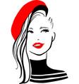 stylish beautiful model for fashion design vector image vector image