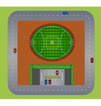 Top view of football field vector image vector image