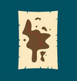 treasure hunt map flat vector image