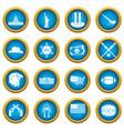 usa icons blue circle set vector image vector image