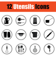 Utensils icon set vector image vector image