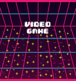 video game star screen vintage image vector image vector image