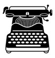 vintage typewriter icon simple style vector image vector image