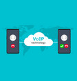 voip call system voice phone technology voice vector image vector image