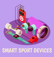 wearable fitness gadgets background vector image vector image