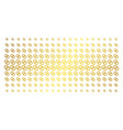 wedding rings gold halftone pattern vector image vector image