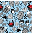 Winter seamless pattern with cute animals vector image vector image