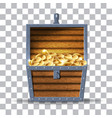 wooden chest vector image vector image