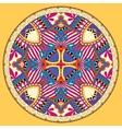 yellow decorative design of circle dish template vector image