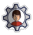 young man character icon vector image