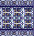 blue ornament traditional portuguese azulejos vector image