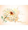 horizontal background with Lily flower vector image