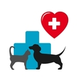 dog and cat veterinary icon vector image
