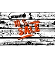 Sale in a grunge style vector image