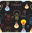 Seamless pattern with light bulbs vector image