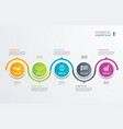 5 circle timeline infographic template business