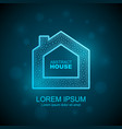 abstract house wireframe icon smart home vector image vector image