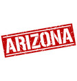 arizona red square stamp vector image vector image