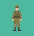 army soldier character vector image