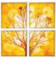 autumn through a window vector image vector image
