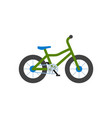 bicycle closeup bike with wheels isolated icon vector image vector image