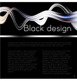 Black Tech Background vector image vector image