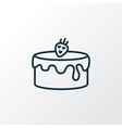cake icon line symbol premium quality isolated vector image