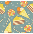 candies seamless pattern sweets color background vector image vector image