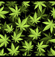 cannabis 3d seamless pattern marijuana texture vector image