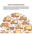 cargo transportation banner template with vector image