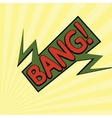 cartoon bang2-12 vector image vector image