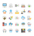 cloud computing icons set 4 vector image vector image