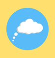 communication cloud on yellow blue background vector image